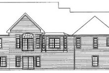 Home Plan - Traditional Exterior - Rear Elevation Plan #31-102