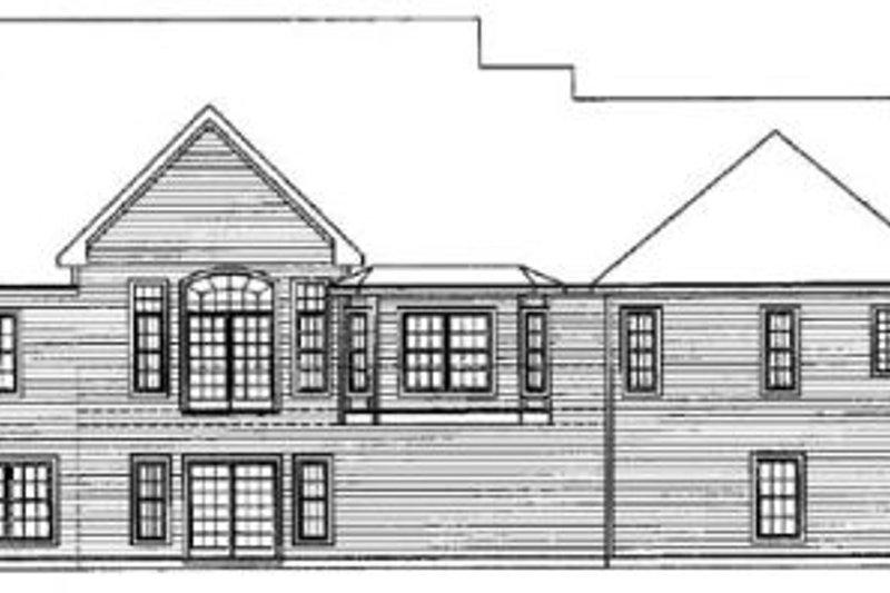 Traditional Exterior - Rear Elevation Plan #31-102 - Houseplans.com