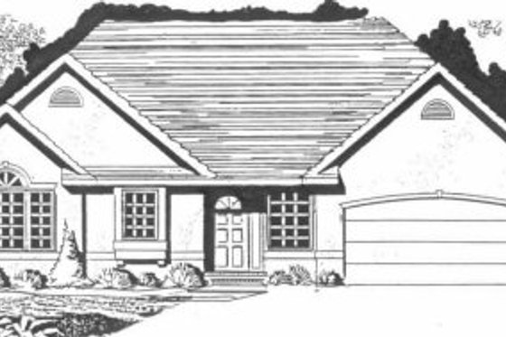 Traditional Exterior - Front Elevation Plan #58-143