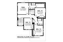 Modern Floor Plan - Upper Floor Plan Plan #70-1465