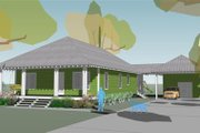 Beach Style House Plan - 3 Beds 2.5 Baths 1699 Sq/Ft Plan #460-5 Exterior - Front Elevation