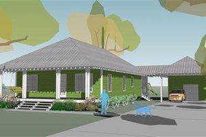 Beach Exterior - Front Elevation Plan #460-5