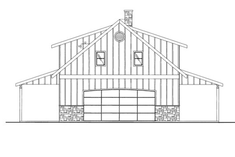 Country Style House Plan - 2 Beds 2 Baths 1092 Sq/Ft Plan #117-687 Exterior - Front Elevation