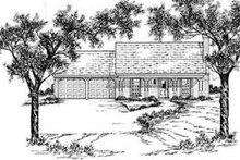 Southern Exterior - Front Elevation Plan #36-402