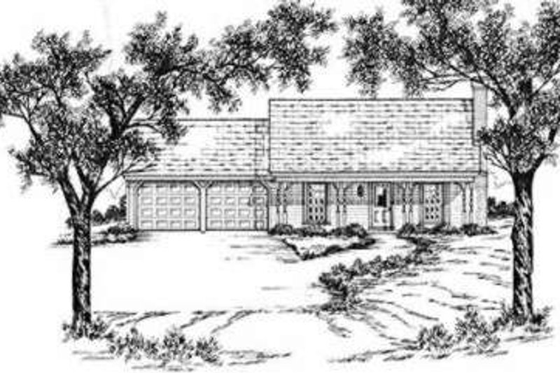 Southern Exterior - Front Elevation Plan #36-402 - Houseplans.com