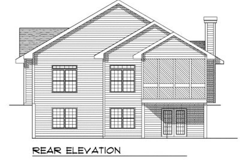 European Exterior - Rear Elevation Plan #70-754 - Houseplans.com