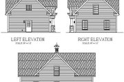 Craftsman Style House Plan - 1 Beds 1 Baths 838 Sq/Ft Plan #56-553 Exterior - Rear Elevation