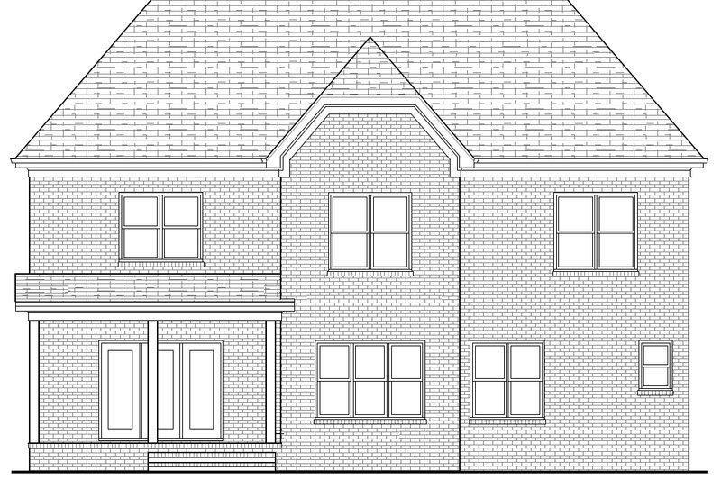 Tudor Exterior - Rear Elevation Plan #413-135 - Houseplans.com