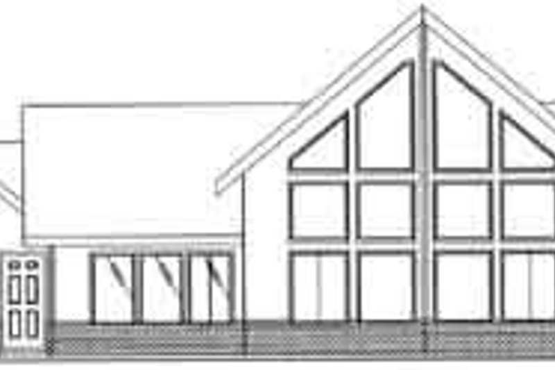 Traditional Exterior - Rear Elevation Plan #117-279 - Houseplans.com