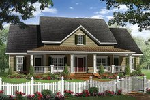 Architectural House Design - Country Exterior - Front Elevation Plan #21-307