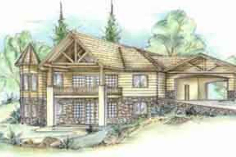 Traditional Exterior - Front Elevation Plan #117-182 - Houseplans.com