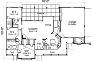 Contemporary Style House Plan - 3 Beds 2.5 Baths 1915 Sq/Ft Plan #57-583 Floor Plan - Main Floor
