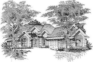 Cottage Exterior - Front Elevation Plan #329-229