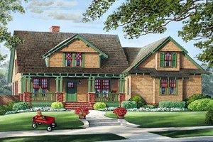 Craftsman Exterior - Front Elevation Plan #137-251