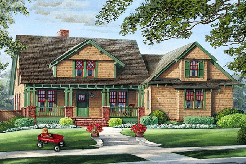 Craftsman Exterior - Front Elevation Plan #137-251
