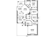 Traditional Floor Plan - Main Floor Plan Plan #84-614