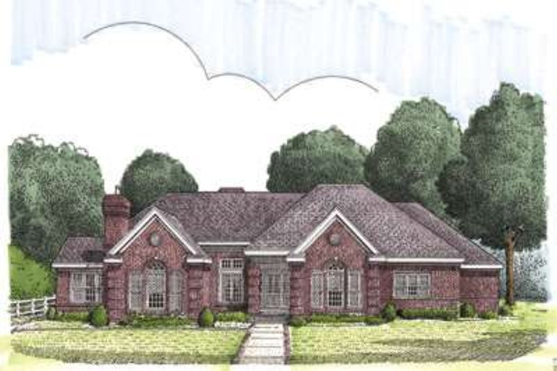 European Exterior - Front Elevation Plan #410-148