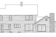 Farmhouse Exterior - Rear Elevation Plan #72-144
