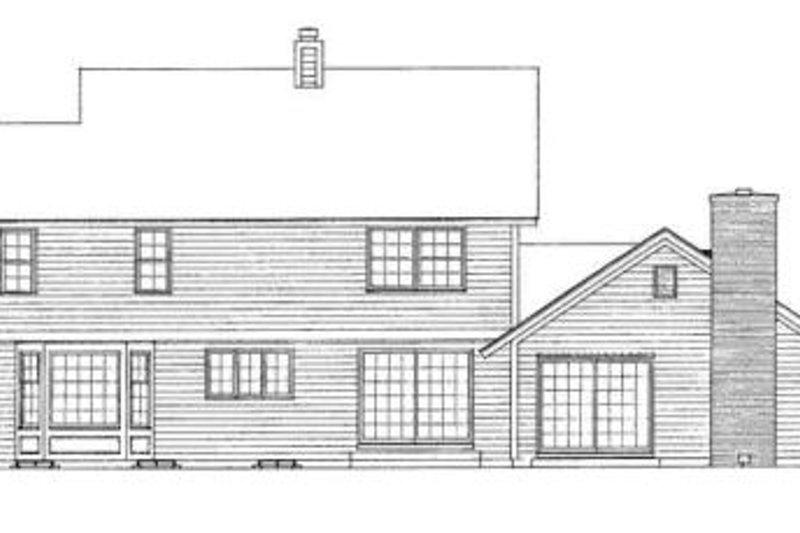 Farmhouse Exterior - Rear Elevation Plan #72-144 - Houseplans.com