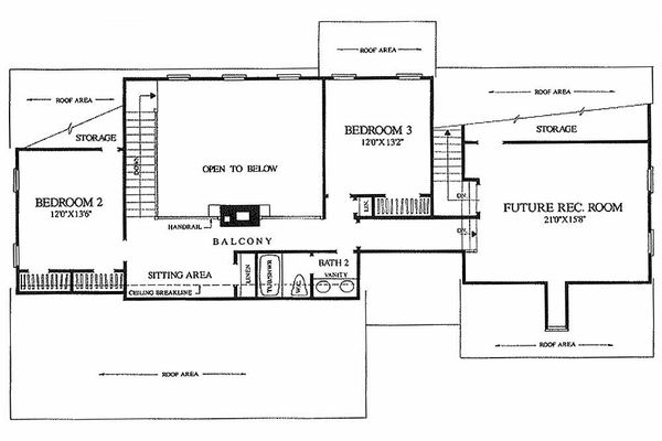 Farmhouse Floor Plan - Upper Floor Plan Plan #137-122