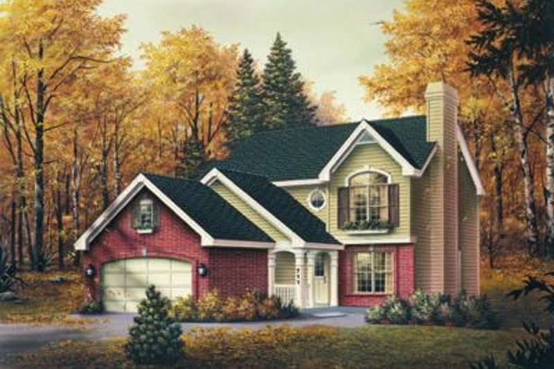 Traditional Exterior - Front Elevation Plan #57-177 - Houseplans.com