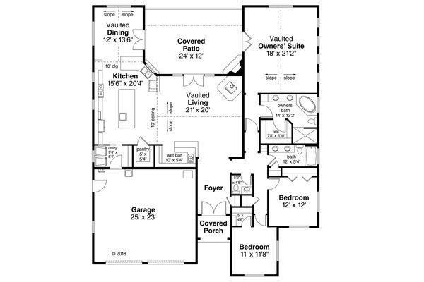 Traditional Floor Plan - Main Floor Plan Plan #124-1117