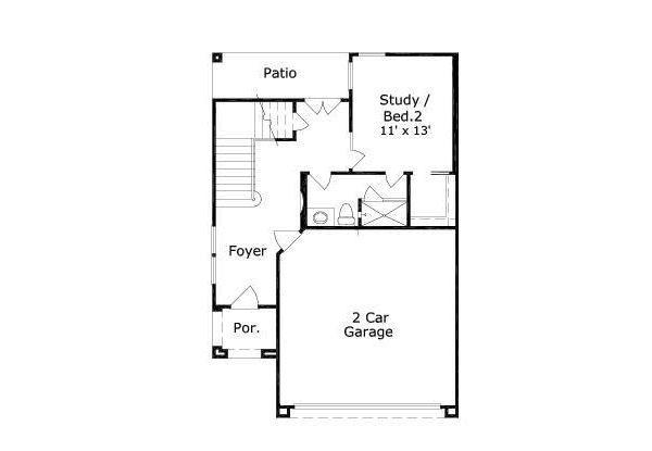 European Floor Plan - Main Floor Plan #411-680