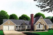 Bungalow Style House Plan - 2 Beds 3 Baths 1736 Sq/Ft Plan #410-101 Exterior - Front Elevation