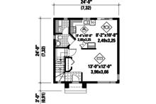 Contemporary Floor Plan - Main Floor Plan Plan #25-4293