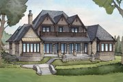 European Style House Plan - 5 Beds 6 Baths 7669 Sq/Ft Plan #928-3 Exterior - Rear Elevation
