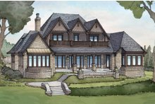 House Plan Design - European Exterior - Rear Elevation Plan #928-3
