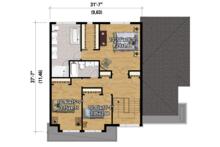 Contemporary Floor Plan - Upper Floor Plan Plan #25-4280
