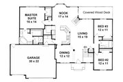 Ranch Style House Plan - 3 Beds 2 Baths 1764 Sq/Ft Plan #58-198 Floor Plan - Main Floor