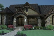 Craftsman Style House Plan - 3 Beds 2.5 Baths 2595 Sq/Ft Plan #120-165 Exterior - Front Elevation