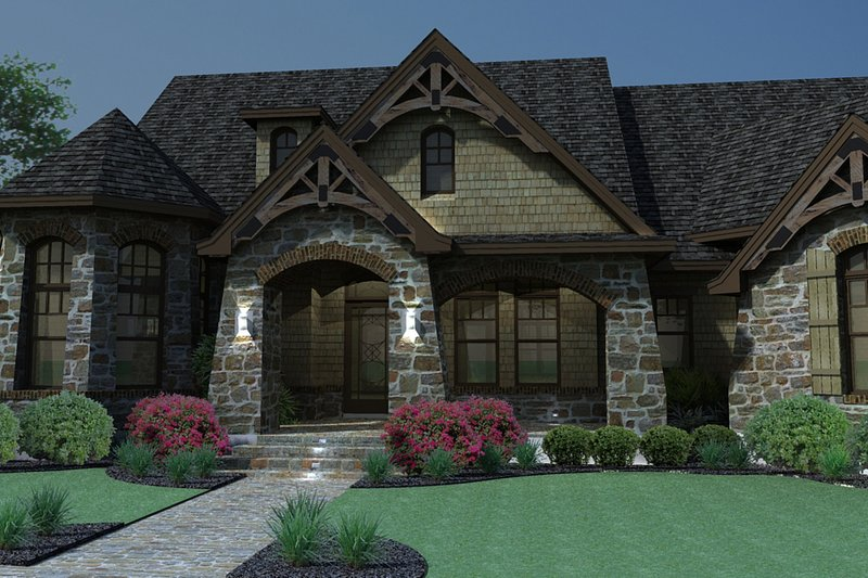 Craftsman Exterior - Front Elevation Plan #120-165 - Houseplans.com