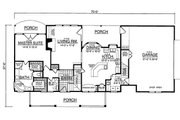 Country Style House Plan - 3 Beds 2.5 Baths 1919 Sq/Ft Plan #40-370 Floor Plan - Main Floor