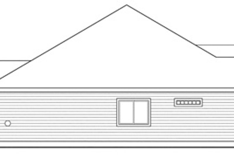 Ranch Exterior - Other Elevation Plan #124-826 - Houseplans.com