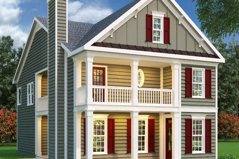 Southern Exterior - Front Elevation Plan #419-151