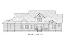 Country Exterior - Rear Elevation Plan #1054-65
