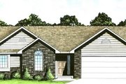 Traditional Style House Plan - 2 Beds 2 Baths 1200 Sq/Ft Plan #58-114 Exterior - Front Elevation