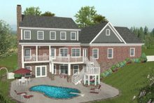 House Plan Design - Craftsman Exterior - Rear Elevation Plan #56-584