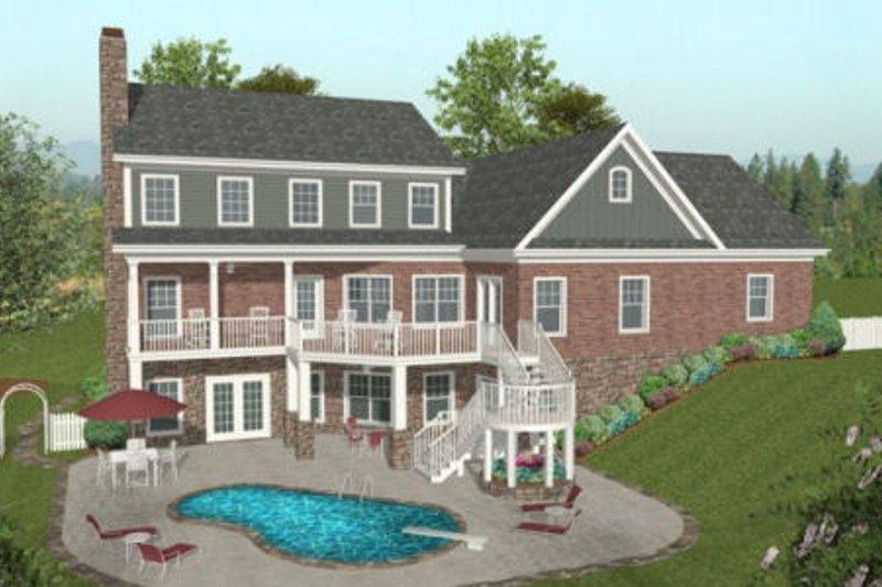 Craftsman Exterior - Rear Elevation Plan #56-584 - Houseplans.com