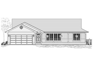 Country Exterior - Front Elevation Plan #53-384