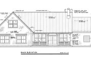 Ranch Style House Plan - 3 Beds 3 Baths 1840 Sq/Ft Plan #140-103 Exterior - Rear Elevation