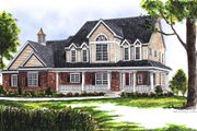 Southern Style House Plan - 4 Beds 2.5 Baths 3180 Sq/Ft Plan #70-526 Exterior - Front Elevation