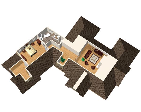 Traditional Floor Plan - Upper Floor Plan Plan #25-4472