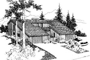 Contemporary Exterior - Front Elevation Plan #303-233