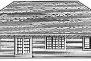 Traditional Style House Plan - 3 Beds 2 Baths 1849 Sq/Ft Plan #70-220 Exterior - Rear Elevation