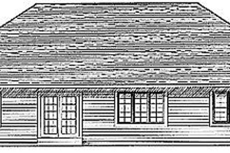 Traditional Exterior - Rear Elevation Plan #70-220 - Houseplans.com