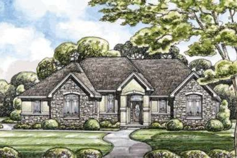 Traditional Exterior - Front Elevation Plan #20-1823 - Houseplans.com